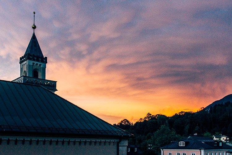 Sonnenuntergang Bad Reichenhall