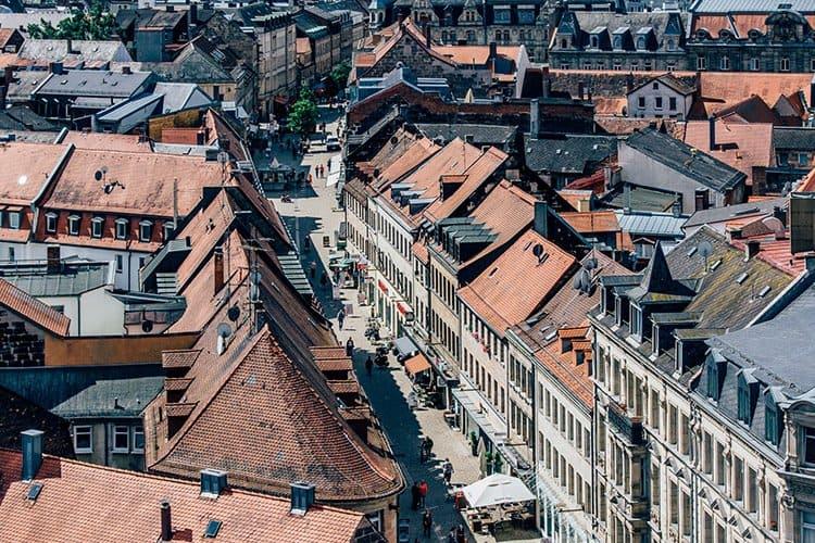 Blick vom Fürther Rathaus