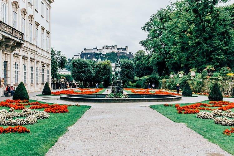 Das Schloss Mirabell und der Mirabellgarten in Salzburg
