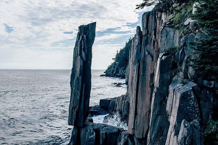 Balancing Rock, Long Island, Nova Scotia