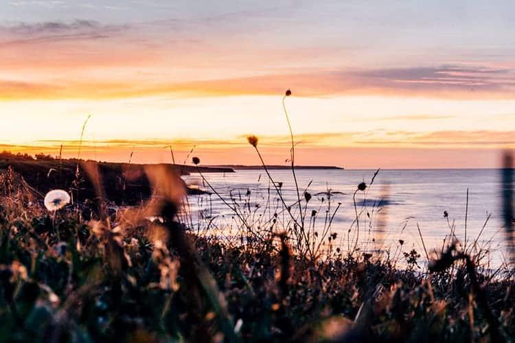 Sonnenuntergang in North Rustico