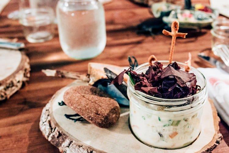 Seafood Chowder mit Dulse und Speck