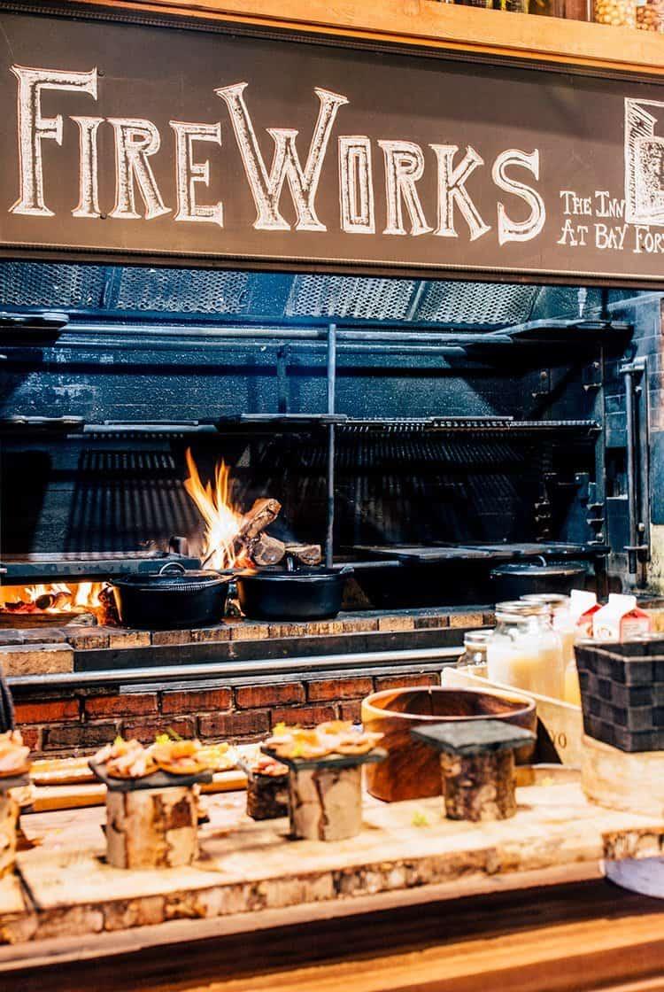 das Restaurant FireWorks