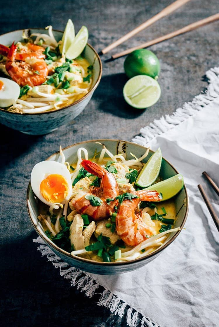 Laksa: scharfe & würzige Nudelsuppe aus Südostasien