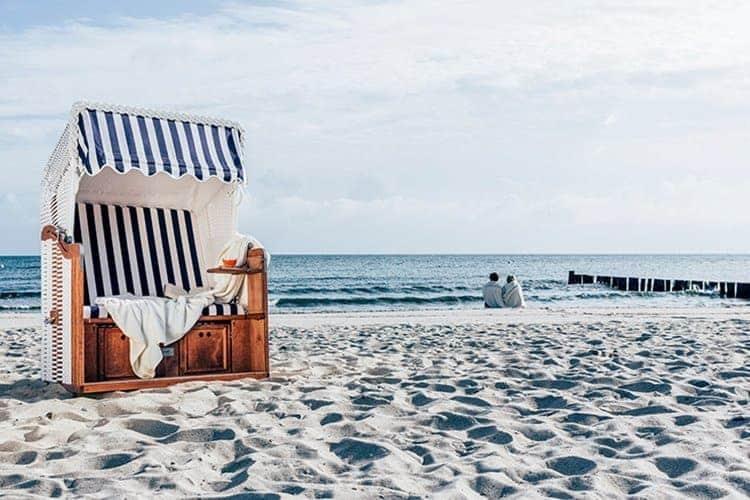 Einfach mal die Seele baumeln lassen in einem der Strandkörbe an den Ostseestränden