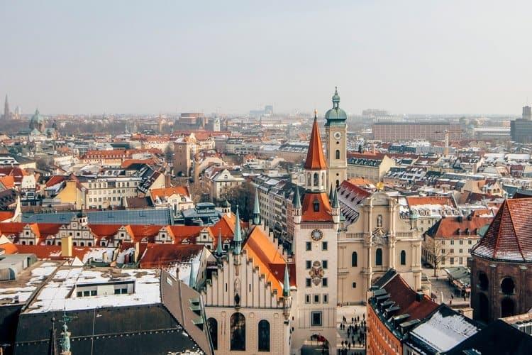 Blick vom Rathaus in München