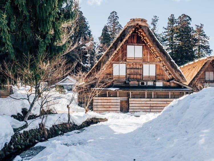 Das kleine Dorf Shirakawago