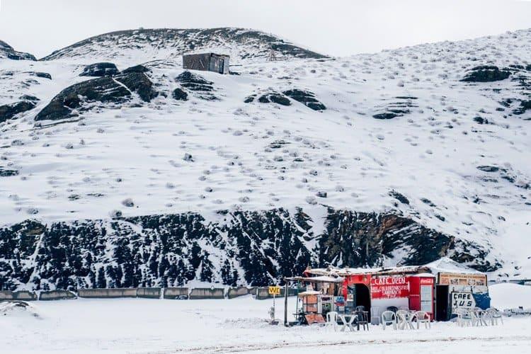 Der Tizi n'Tichka Pass – Schnee in Marokko