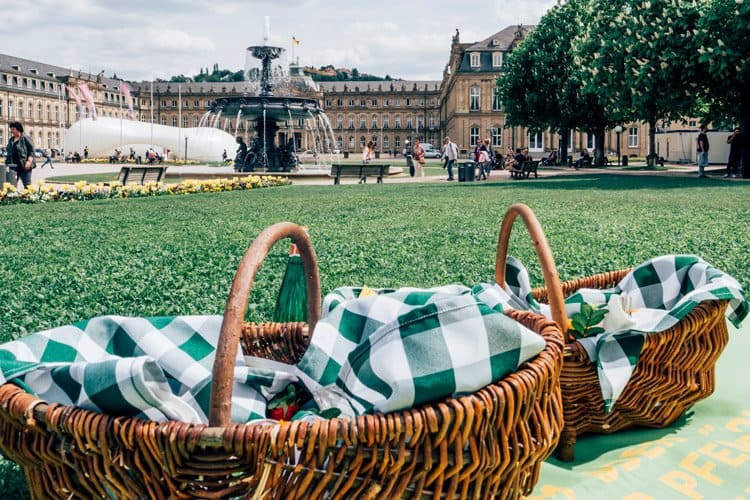 Picknick am Schlossplatz