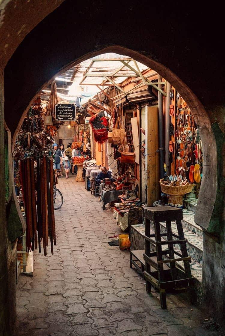 Die Souks von Marrakesch