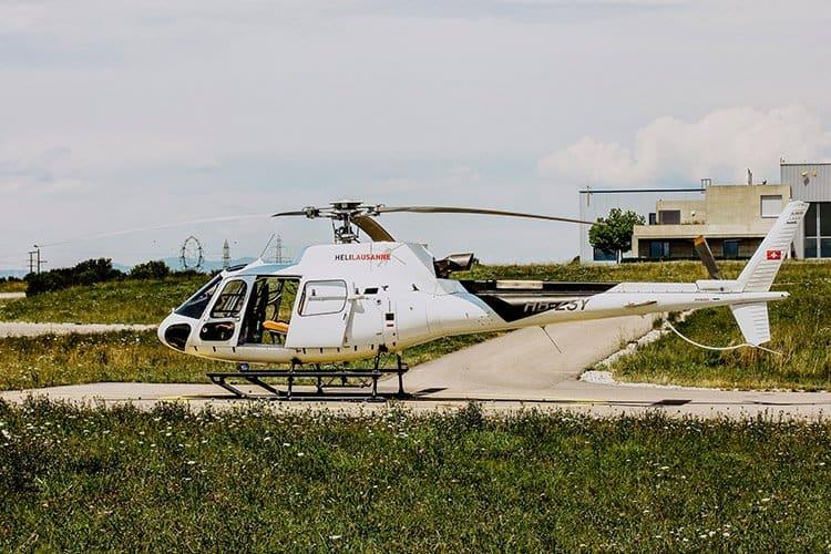 Ein Rundflug mit dem Helikopter