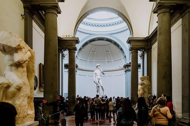 Kunstsammlung in der Galleria dell'Accademia