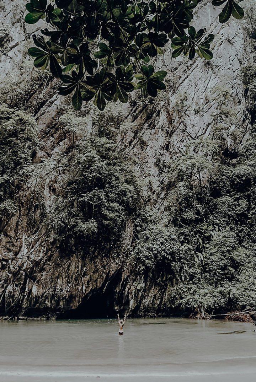 Ein Ausflug zur Emerald Cave Koh Mook