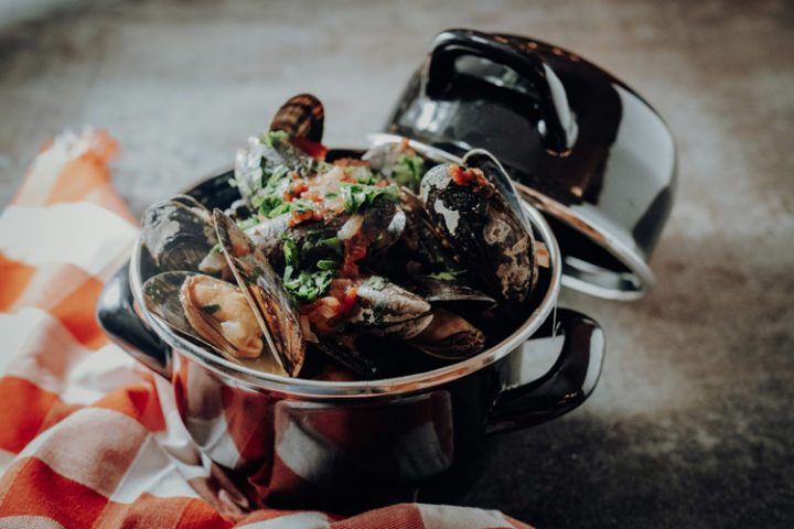 Miesmuscheln in Tomatensosse – Cozze al pomodori