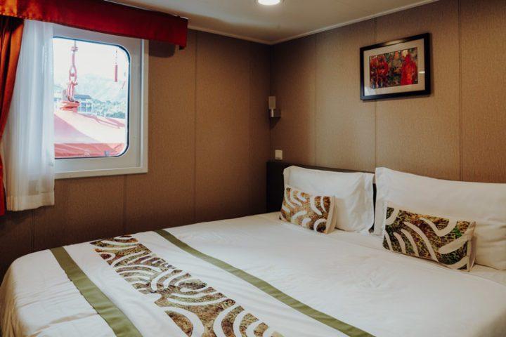 Kabine – Frachtschiff Aranui