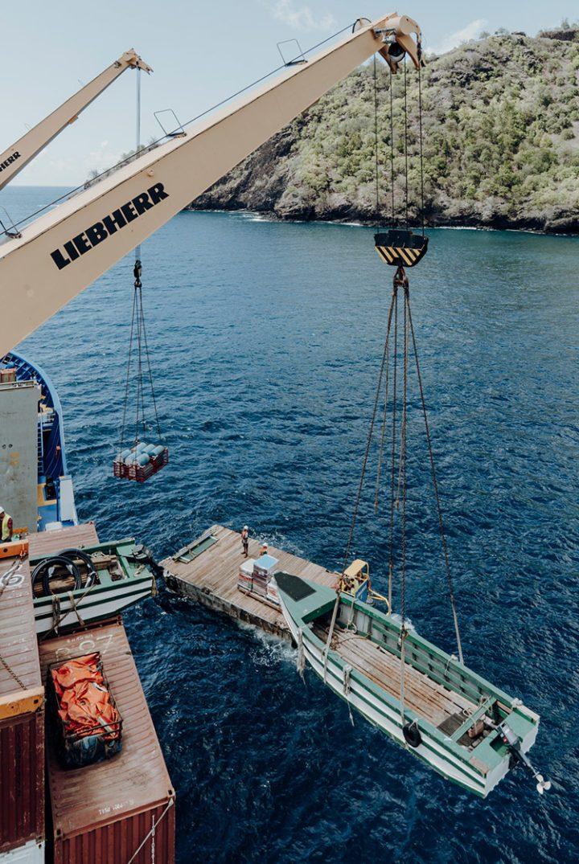 Das Frachtschiff Aranui  – Französisch Polynesien