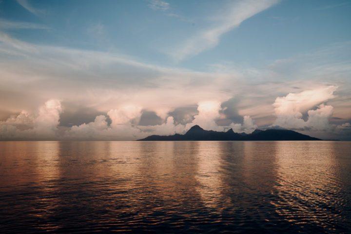 Sonnenuntergang Bora Bora – Französisch Polynesien