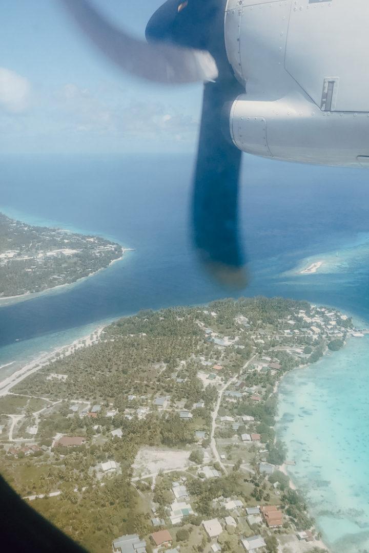 Flug über Rangiroa Tuamotu-Archipel