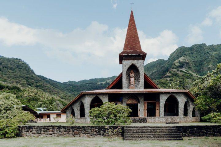 Kirche Tahuata Französisch Polynesien