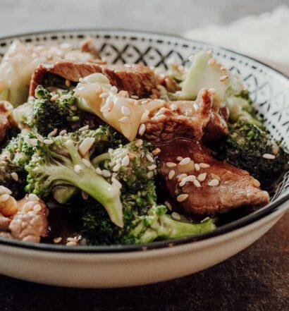 Stir-Fry mit Rindfleisch und Brokkoli