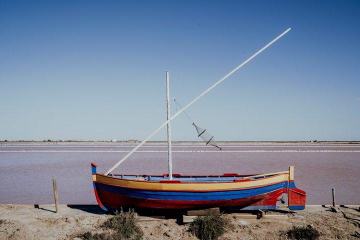 Salin de Gruissan in der Lagune der Ile Saint-Martin