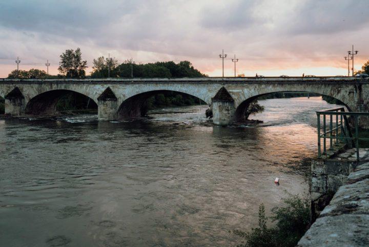 Sonnenuntergang auf der Pont George V