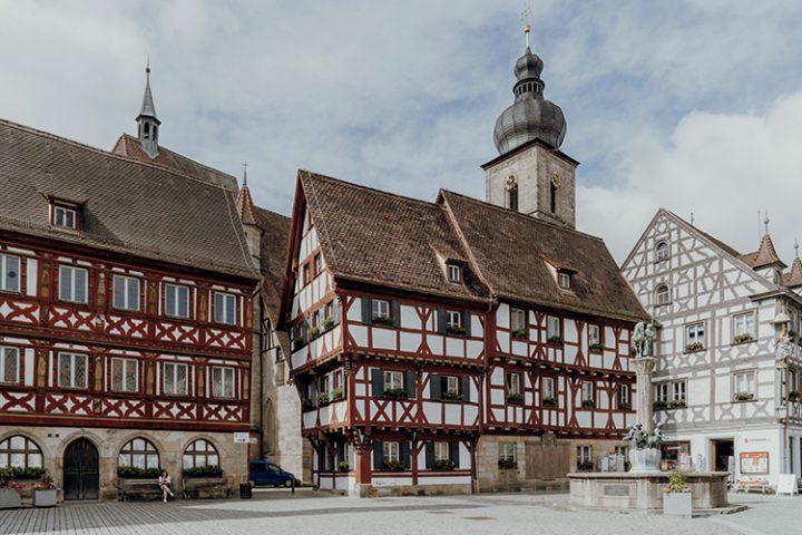 Das Rathausplatz in Forchheim
