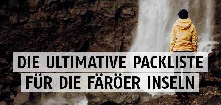 Packliste Färöer Inseln