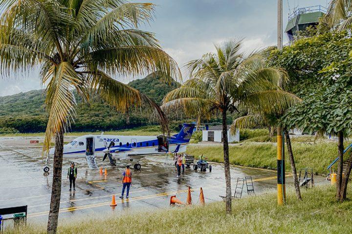 Flug von San Andres nach Providencia Kolumbien