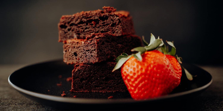 Amerikanische Chocolate Fudge Brownies