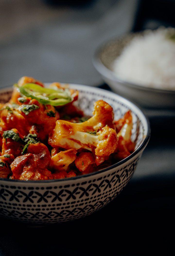 Aloo Gobi Masala - indisches Kartoffel-Blumenkohl-Curry