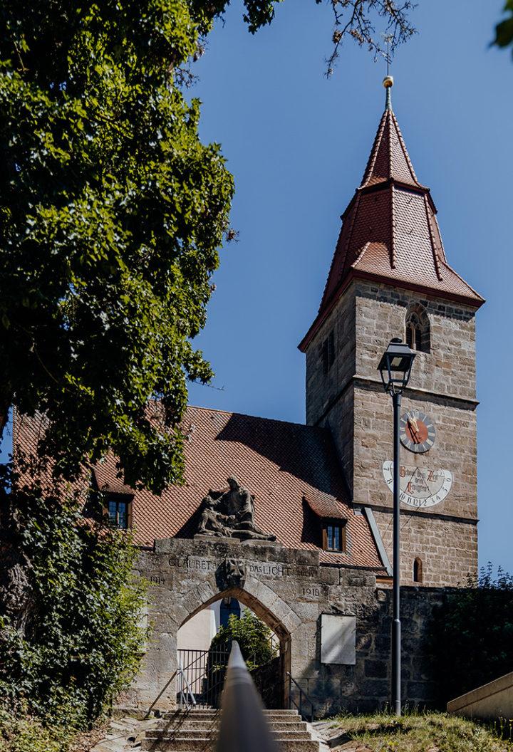 Auf dem Erlebnisradweg Hohenzollern nach Veitsbronn
