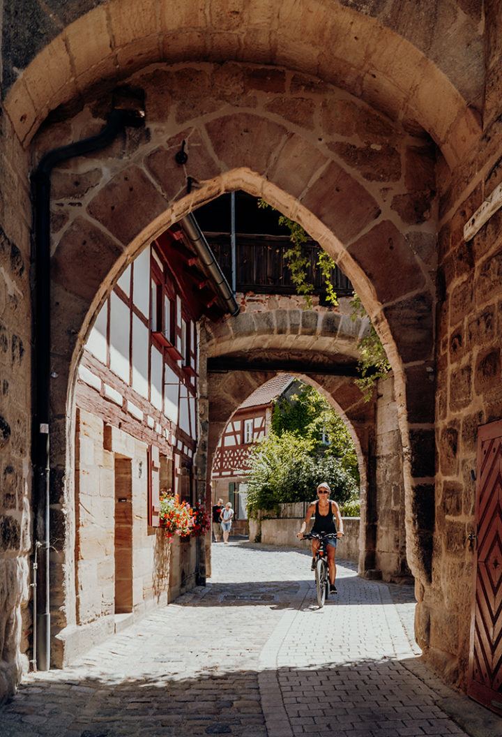 Auf dem Erlebnisradweg Hohenzollern nach Cadolzburg