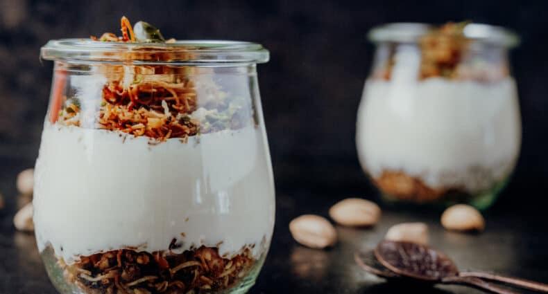 Muhallebilitel kadayıf – Türkischer Pudding mit Engelshaar