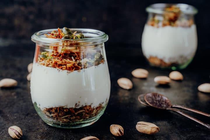 Türkischer Pudding mit Engelshaar – Muhallebilitel kadayıf