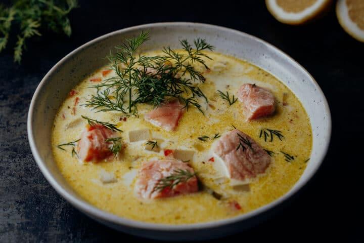 Lohikeitto – Rezept Finnische Lachssuppe