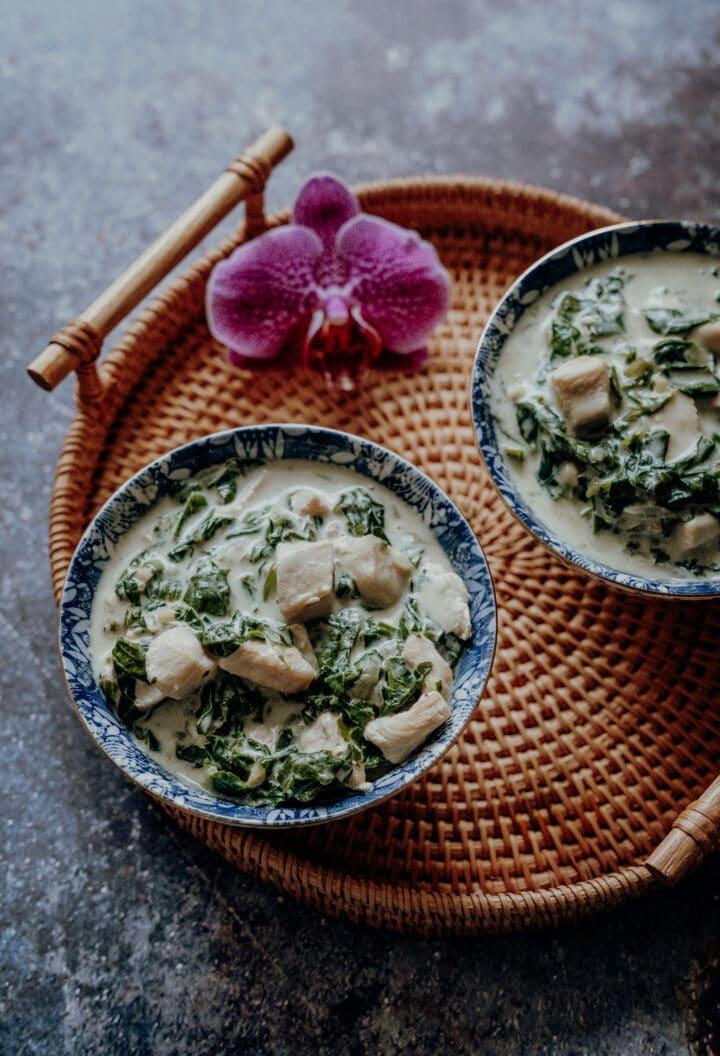 Chicken Fa fa - Rezept für tahitianisches Huhn in Kokoscreme