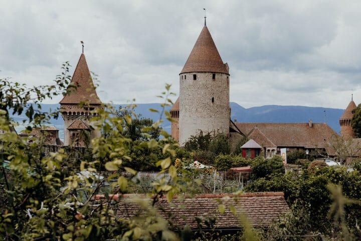 Das Schloss Chenaux in Estavayer-le-Lac
