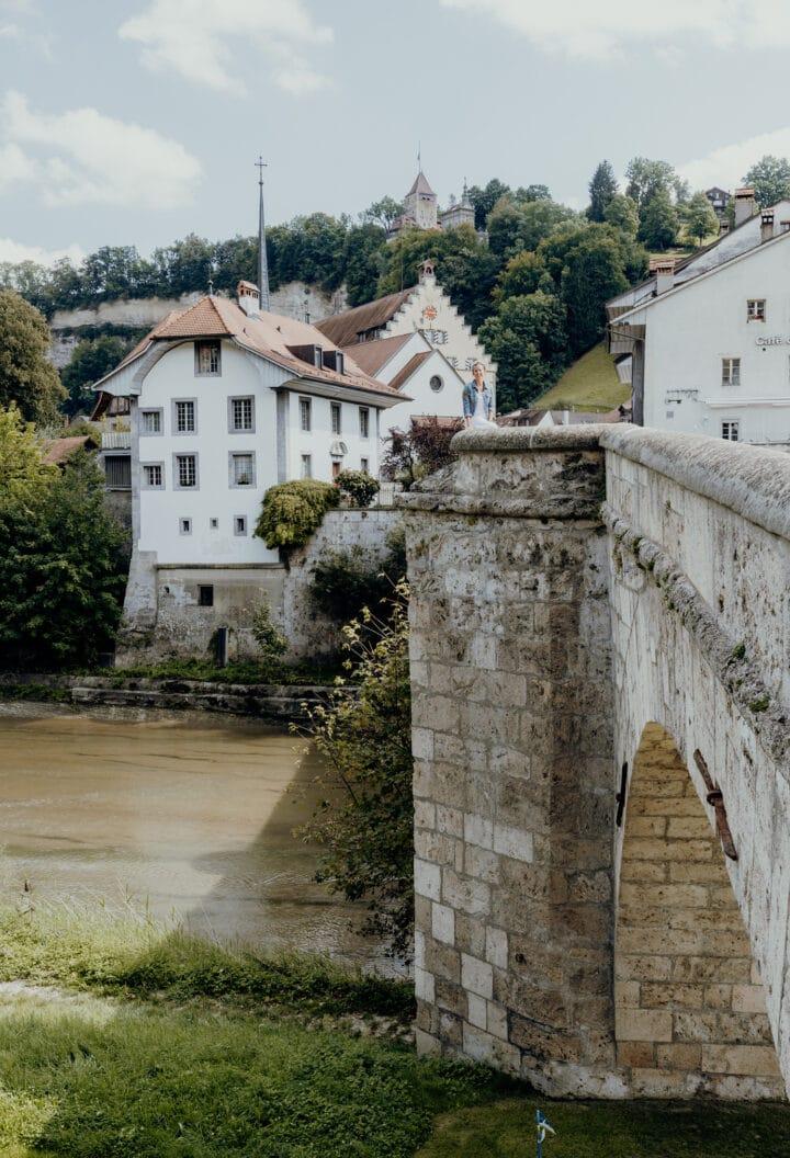 Der Aussichtspunkt Saint-Jean in Fribourg