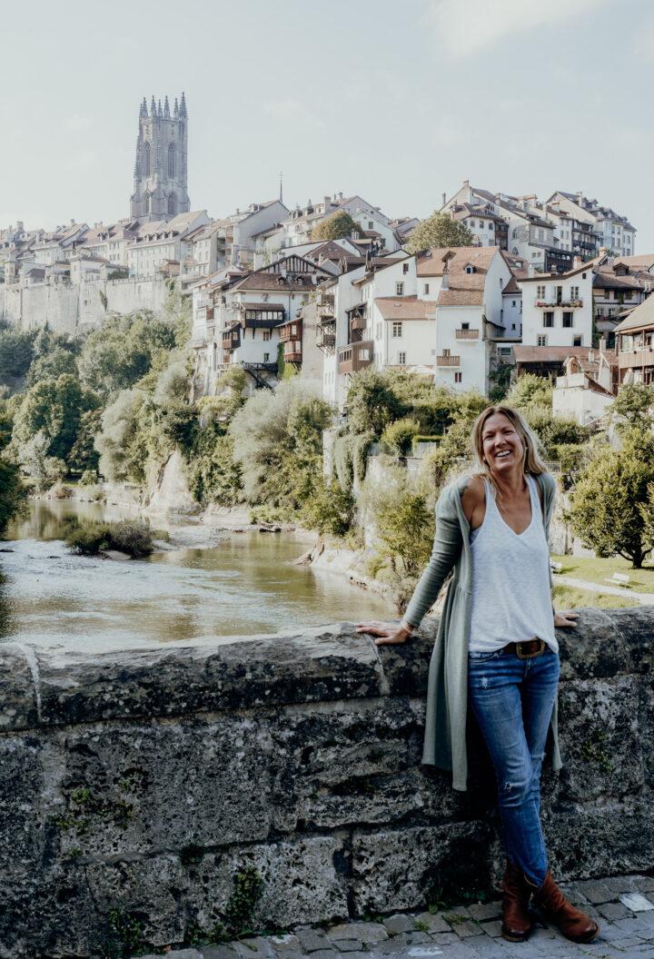 Die Mittlere Brücke in Fribourg