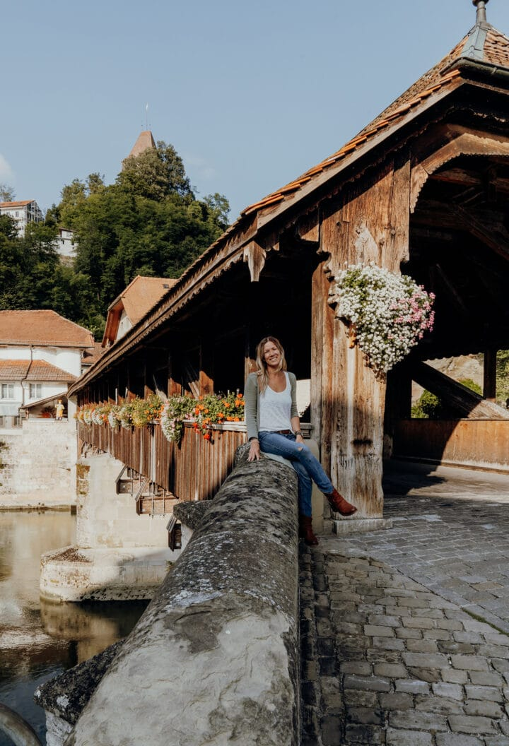 Die Bernbrücke in Fribourg