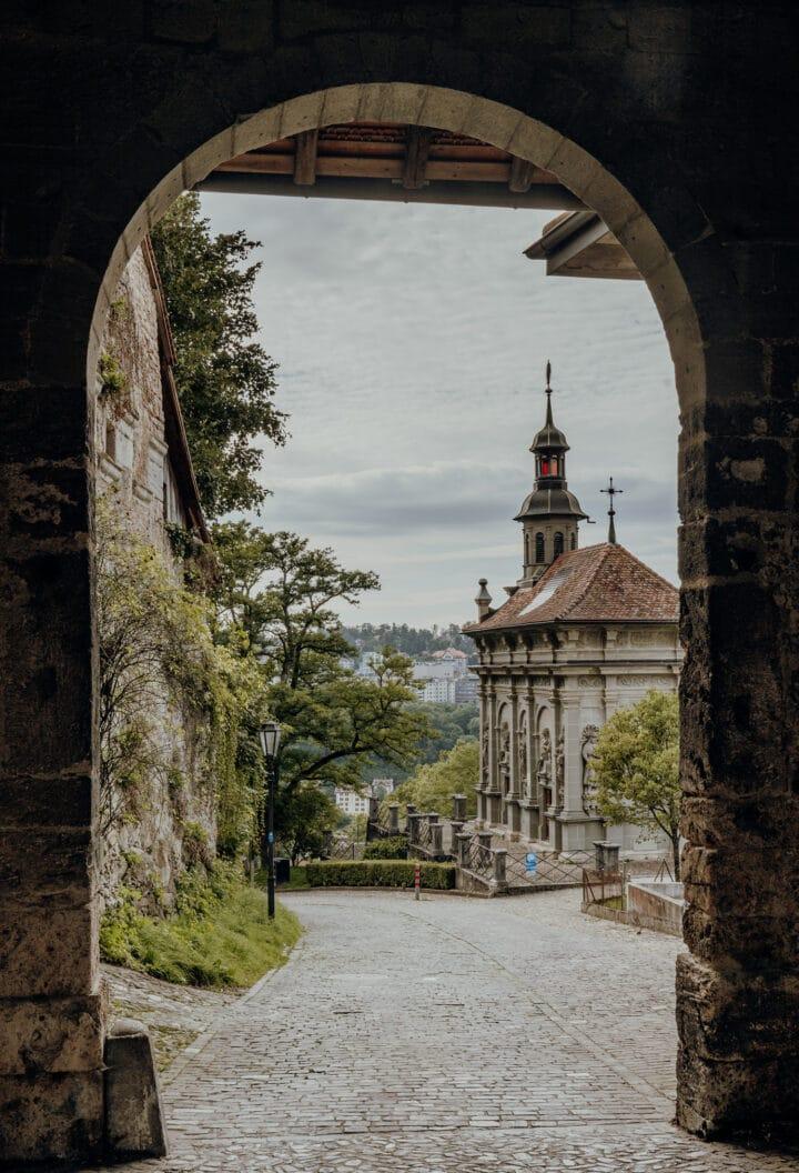 Das Bürglerntor in Fribourg