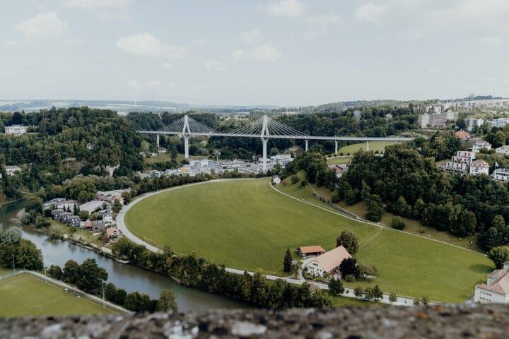 Die Poya-Brücke in Fribourg