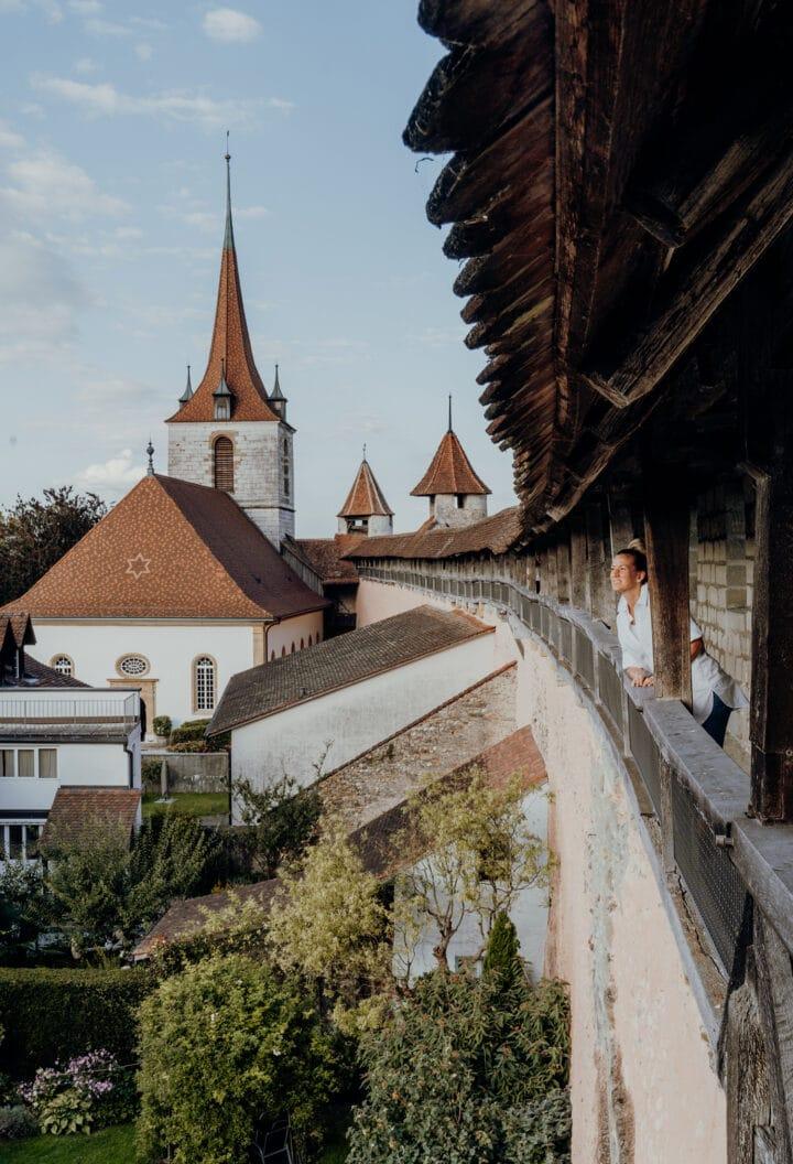 die Ringmauer von Murten